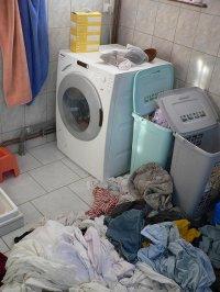 pralka w łazience